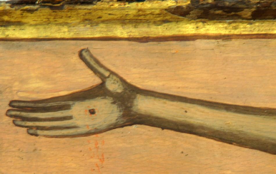 Ι. Μ. Γηρομερίου, Θεσπρωτία, επιστύλιο τέμπλου, λεπτομέρεια, ορατό